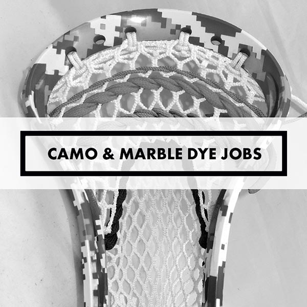 Lacrosse Sticks - Dye Jobs - Camos & Marbles