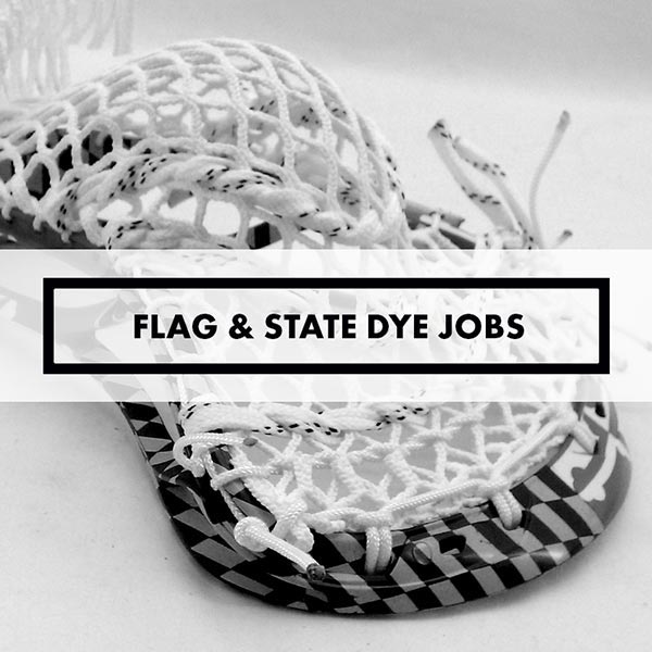 Lacrosse Sticks - Dye Jobs - Flags & States
