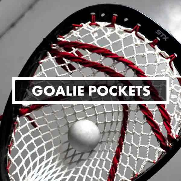 Goalie Lacrosse Pockets, Stringing, Mesh, Custom Strung Goalies