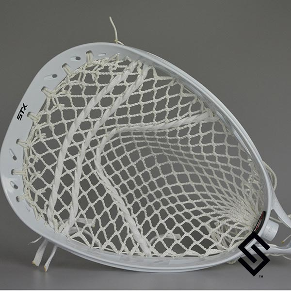 STX Eclipse White prestrung with Stylin' Strings G-Pro Pocket