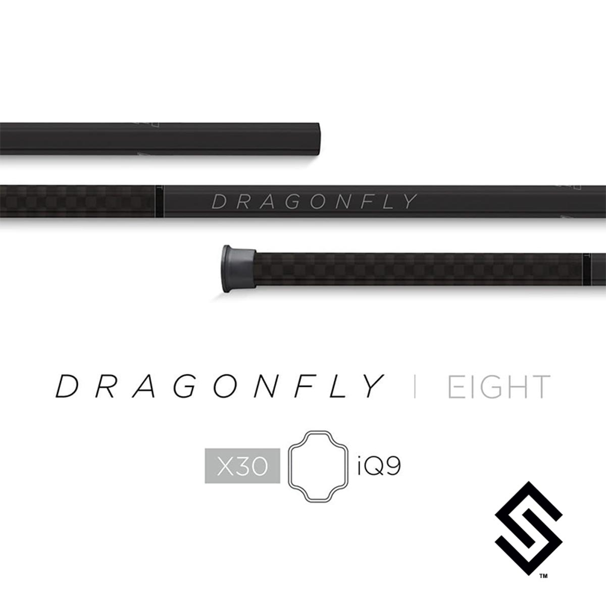 Epoch Dragonfly Eight 8 X30 iQ9 Black Composite Attack Lacrosse Shaft