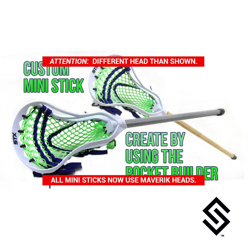Custom Mesh STX Super Power Mini Sticks - Stylin Strings Mini Lacrosse Fiddle Stick