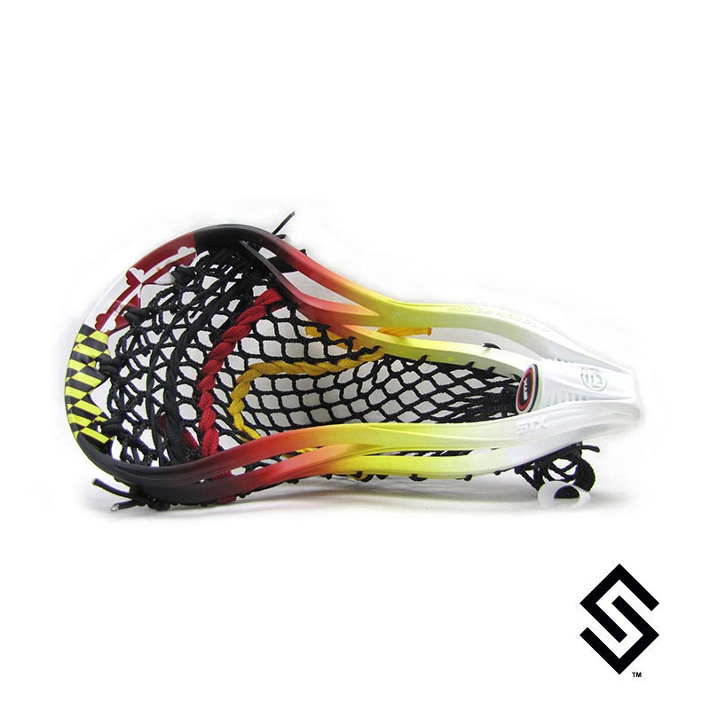 Stylin Strings Maryland Flag Lip Fade Custom Lacrosse Dye Job
