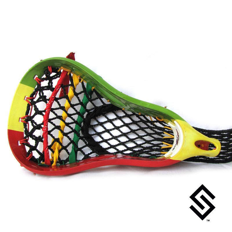 Stylin Strings Rasta Flag Lacrosse Dye Job
