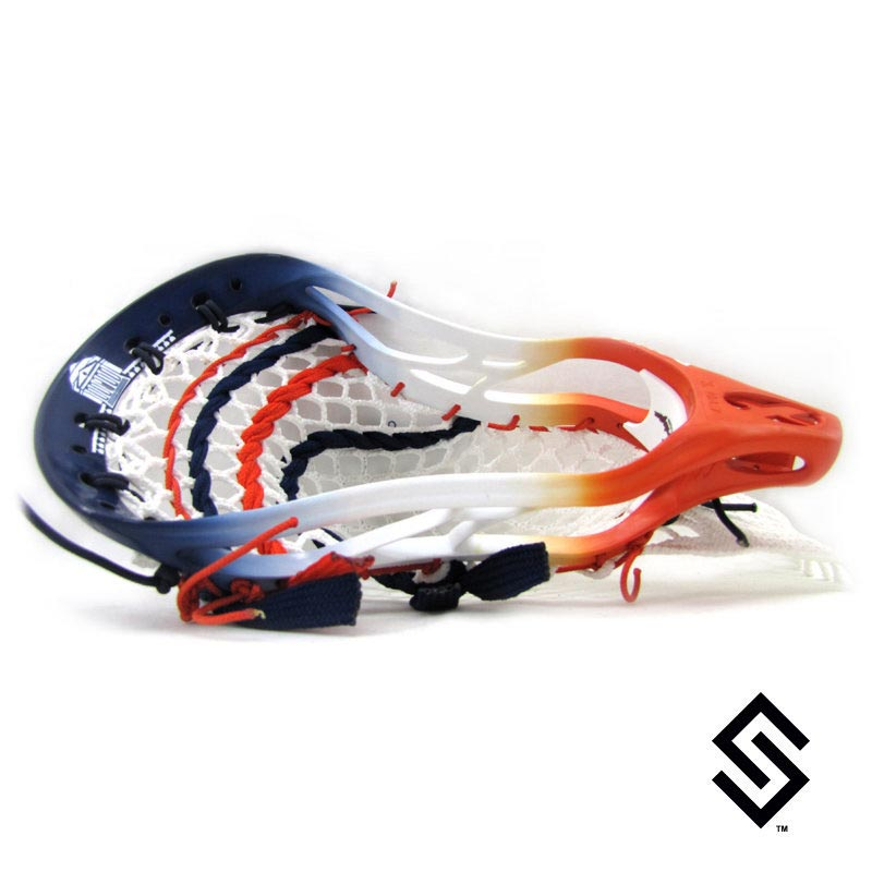 Stylin Strings One Color Rotunda Two Color Fade with White Lacrosse Dye Job