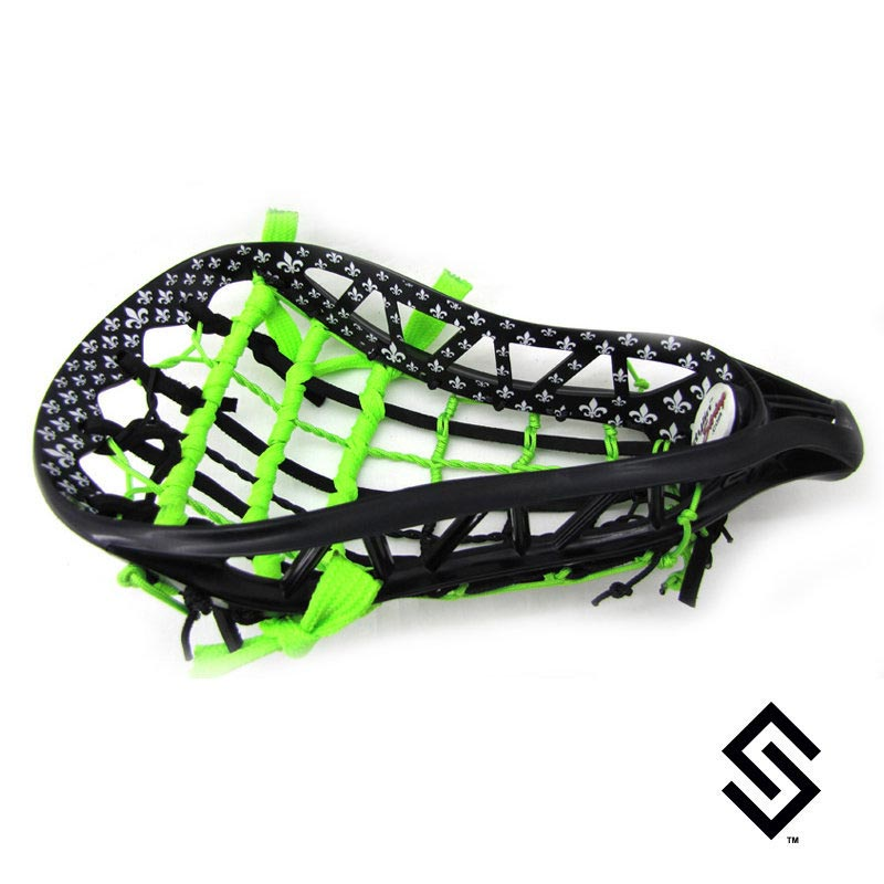 Stylin Strings One Color Saints Full Inside Custom Lacrosse Dye Job