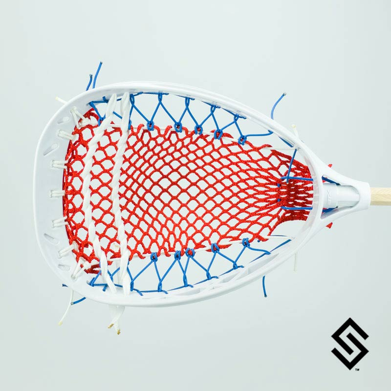 The 'Murica - Stylin' Strings STX Eclipse Mini Goalie Mesh Lacrosse Fiddle Stick