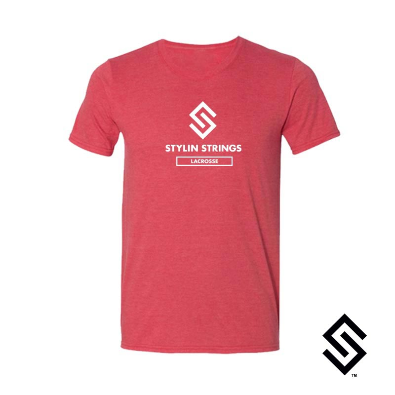 Stylin' Strings T-shirt Red with White Logo