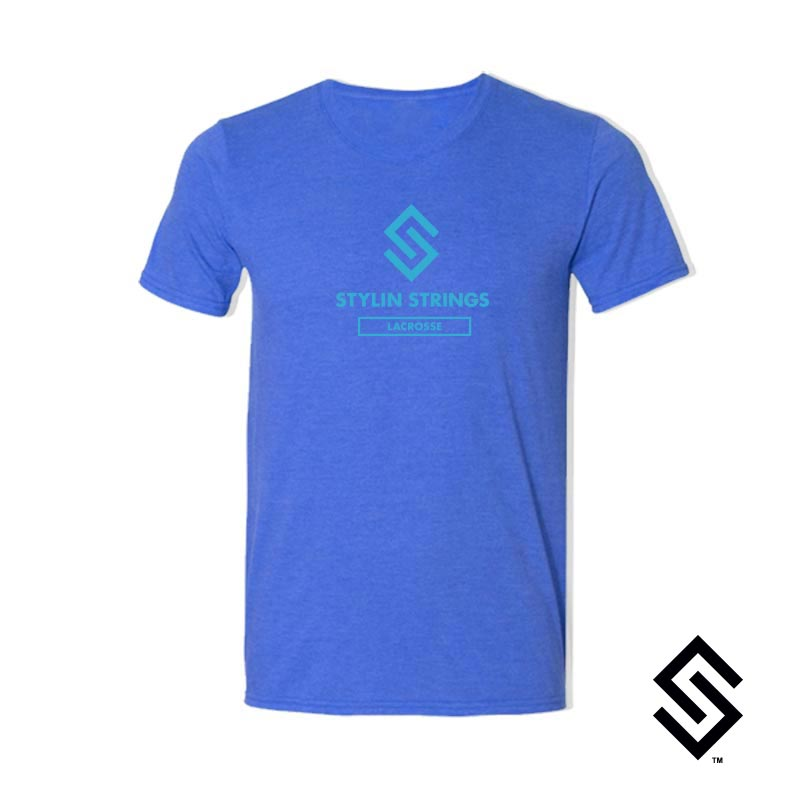Stylin' Strings T-shirt Royal with Blue Logo