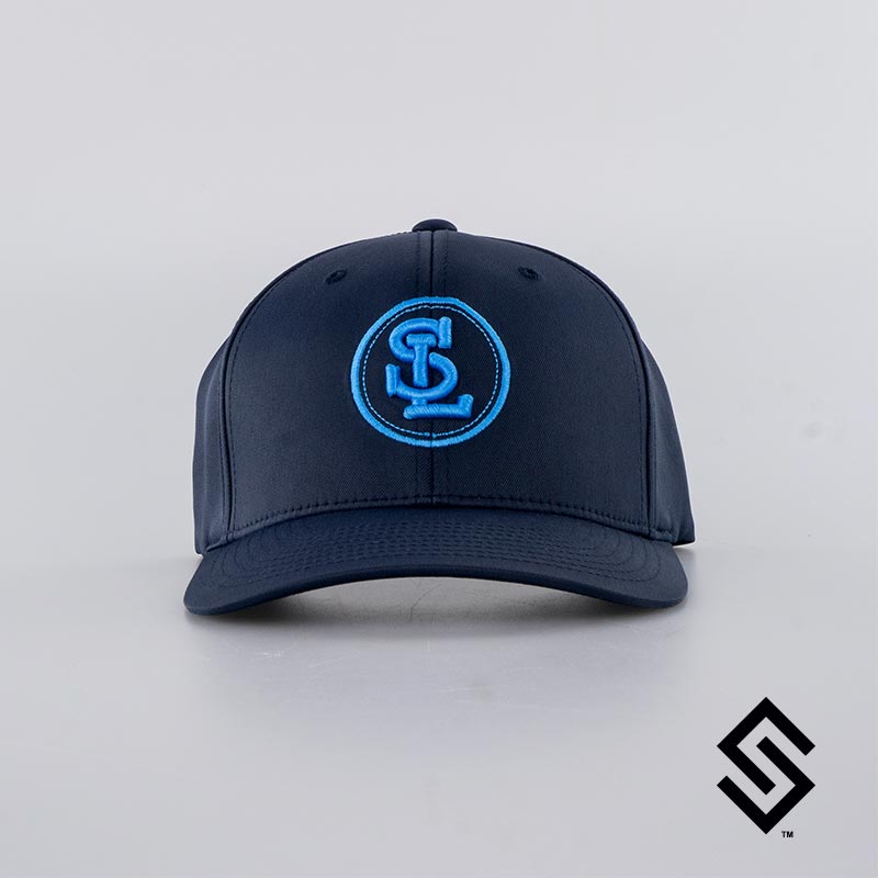Stylin' Strings String League Official Performance Fitted Hat Navy with Blue Logo