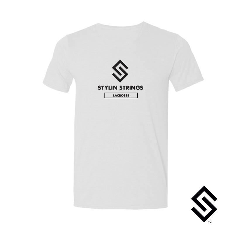 Stylin' Strings T-shirt White with Black Logo
