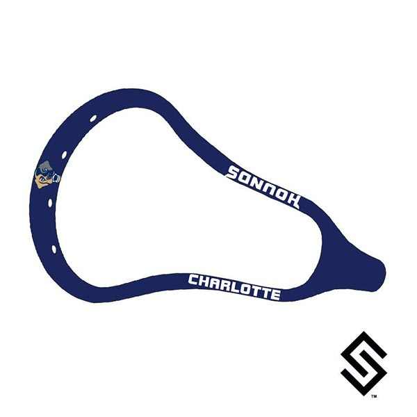 Charlotte Hounds MLL Lacrosse Dye Job by Stylin' Strings One Color with Logo