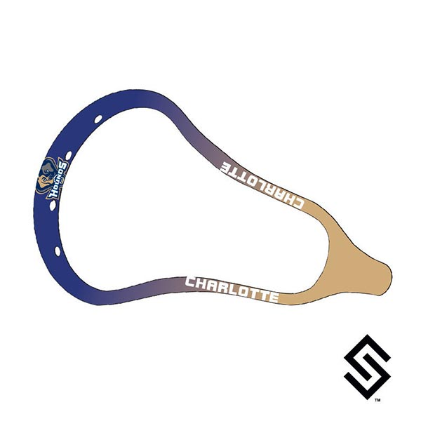 Charlotte Hounds MLL Lacrosse Dye Job by Stylin' Strings Two Color Fade with Logo