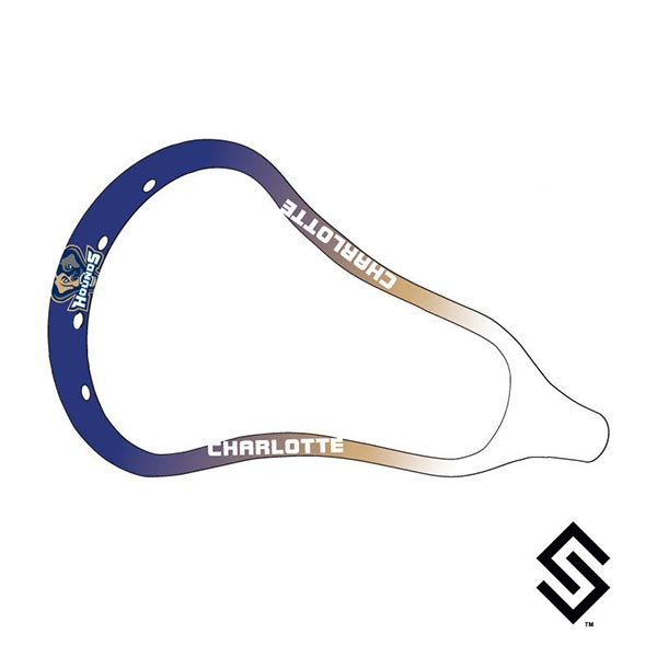 Charlotte Hounds MLL Lacrosse Dye Job by Stylin' Strings Two Color Fade with White and Logo