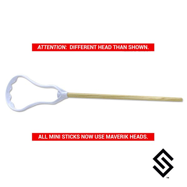 Stylin' Strings Mini Stick - STX Super Power Head Unstrung and SSLax Wood Shaft Combo
