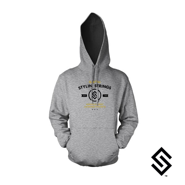 Stylin' Strings Lacrosse America's Best Lacrosse Pockets Hoodie Heather Grey