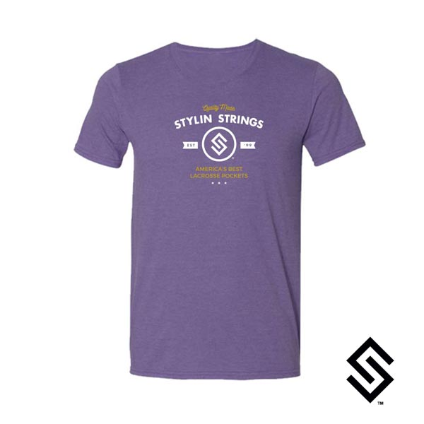 Stylin' Strings Lacrosse America's Best Lacrosse Pockets T-Shirt Purple