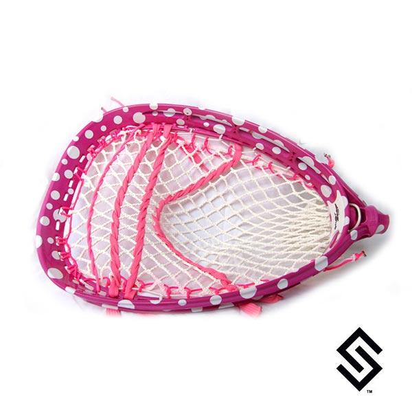 Stylin Strings Polka Dot One-Color Lacrosse Dye Job