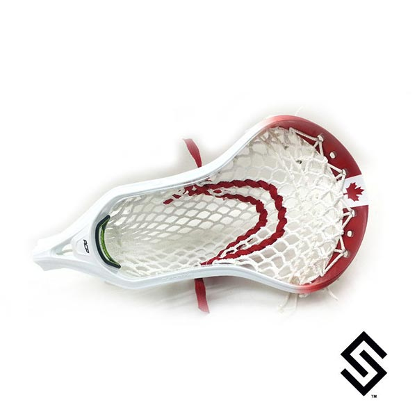 Stylin Strings Canadian Flag Lip Fade Custom Lacrosse Dye Job