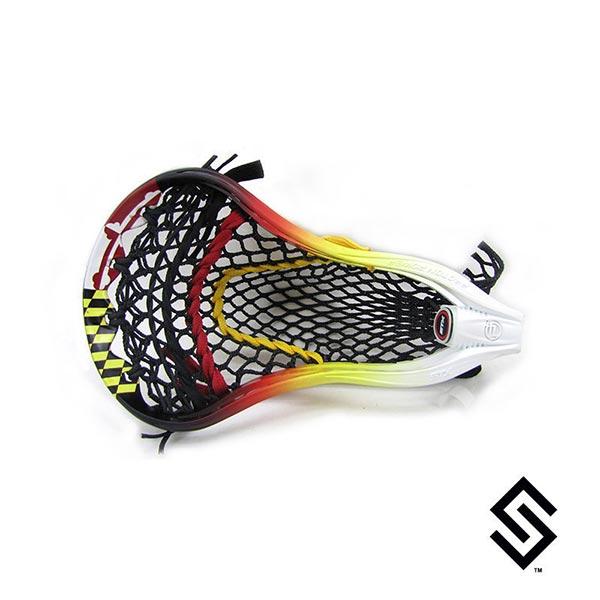 Stylin Strings Maryland Flag Lip Fade Custom Lacrosse Dye Job