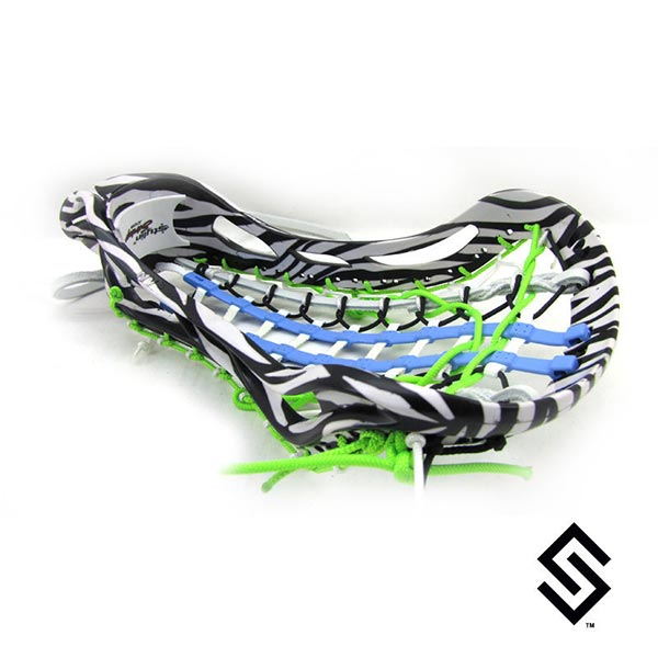 StylinStrings Zebra Print One Color Lacrosse Dye Job