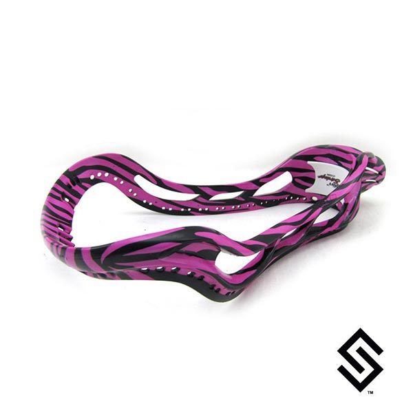 StylinStrings Zebra Print Two Color Lacrosse Dye Job