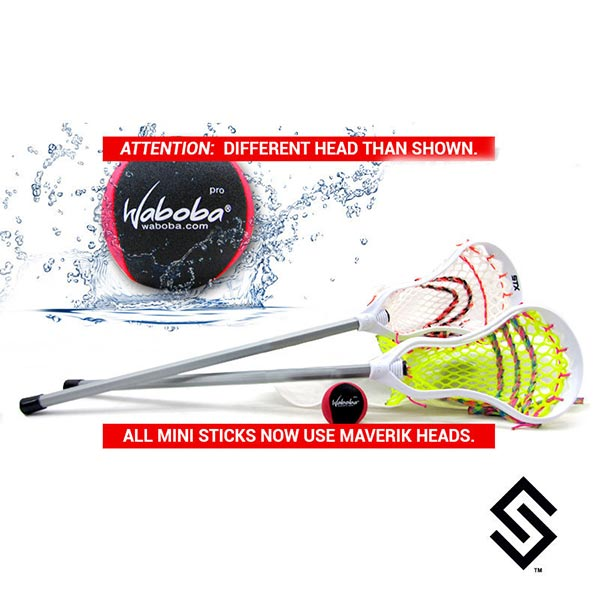 Custom Mesh Waboba Mini Sticks - Stylin Strings Mini Lacrosse Fiddle Stick 2-Pack