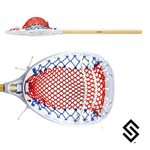 The 'Murica - Stylin' Strings Mini Goalie Mesh Lacrosse Fiddle Sin Stick