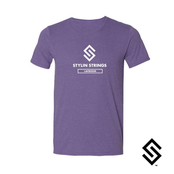 Stylin' Strings T-shirt Purple with White Logo