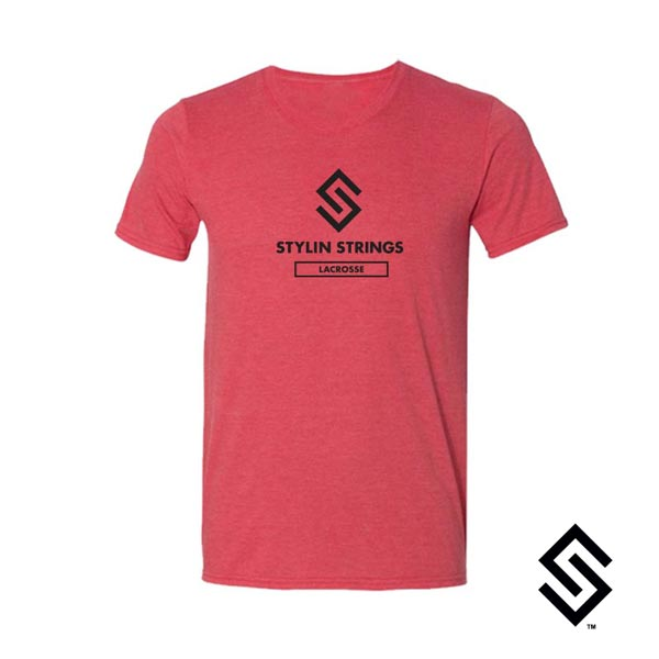Stylin' Strings T-shirt Red with Black Logo