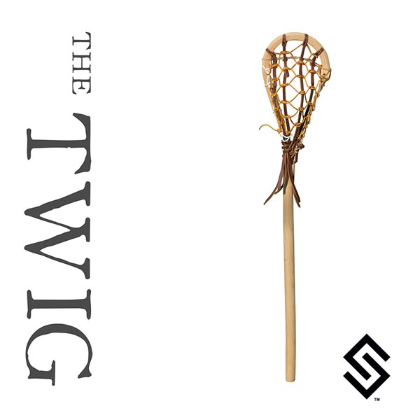 the twig mini wooden lacrosse stick stylin strings